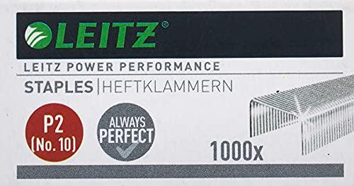 Leitz Power Performance Heftklammern P2 (Nr. 10), Verzinkt, Box mit 1000 Heftklammern, 55770000