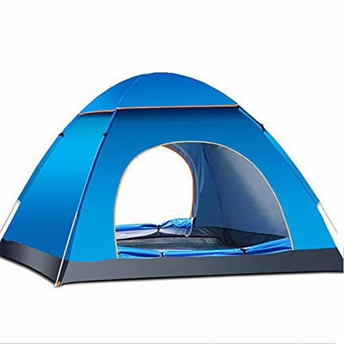 Chengzuoqing Tienda De Campa?a Outdoor 3-4 Personas Camping Tienda Automática Abra El Toldo De La Sombrilla UV para Hacer Senderismo Acampar Al Aire Libre (Size:200 * 200 * 135cm; Color:Gray&Blue)