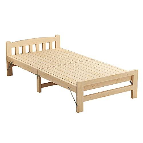 Folding bed Tablero De Cama Individual con Listones De Madera Base Incorporada Plegable Alquiler La Oficina Recomienda Una Cama para La Siesta.