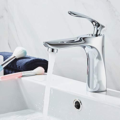 NGRJG Grifo de Cocina Grifo de lavabo lavabo de baño de agua caliente y frío de alto estándar incorporado lavabo de cerámica hoja de arce grifo de un solo orificio chapado sección corta