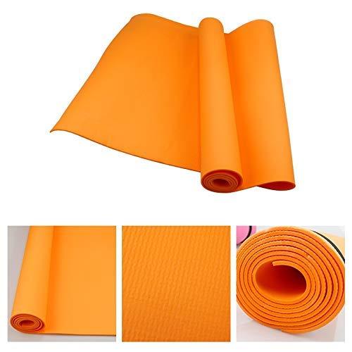 8bayfa 4MM PVC Yoga-Matten Anti-Rutsch-Pad Turn PVC Frauen Gewicht Sport-Übung Gesundheit Fitness-Matte Perfekt for zu Hause oder im Fitnessstudio nutzen.1124 (Color : Orange)