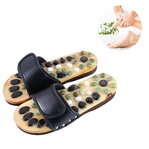 Preisvergleich Produktbild Pantofole per Massaggio Ai Piedi Nero Tai Chi Klettband Miglioramento Del Metabolismo Magnete Classic Riflessologia Massaggio Infradito