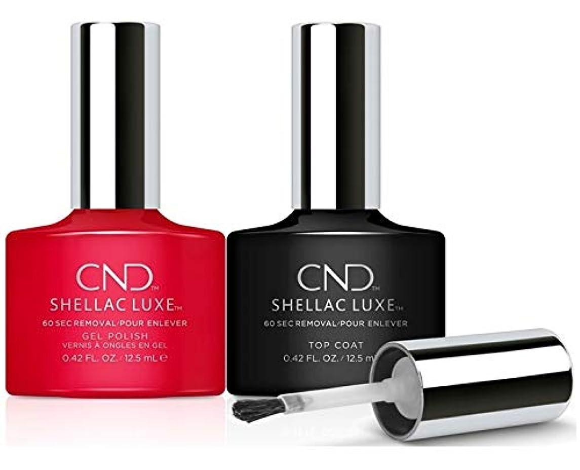 不明瞭無し木CND Shellac Luxe - Femme Fatale and Top Coat Duo Pack - 12.5 mL / 0.42 oz Each