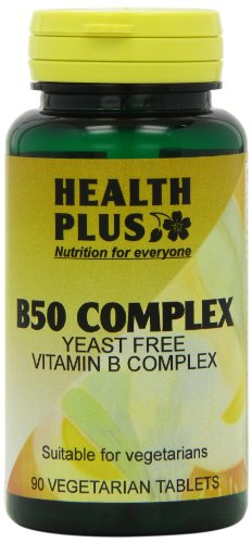 Health Plus B50 Complex Vitamin B Supplement - 90 Tablets