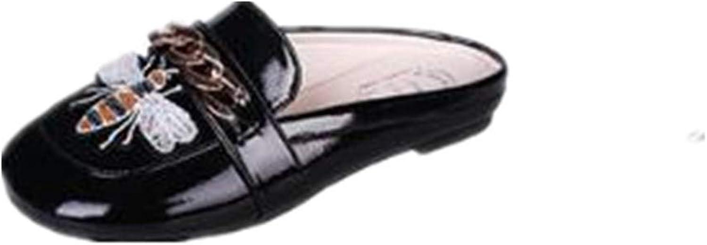 Slip On Mule Slippers - Women Flat Backless Pointed Toe Pump