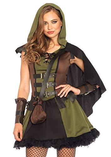 Leg Avenue Damen Darling Robin Hood Kostüme, Olive & Black, S