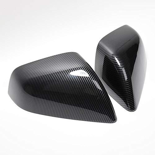 Cubierta de Espejo retrovisor del Coche Fibra de Carbono Anti-rasguño y Resistente al Desgaste de la Cubierta Protectora del Espejo de la retrovisor Adecuada para Tesla Model X (2PCS)