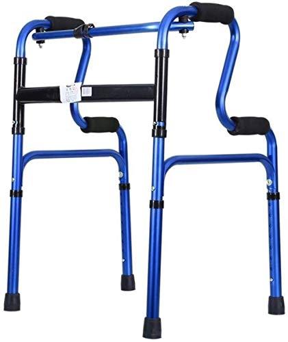 Rollatoren voor oudere standaard loopframe, wheeloos roestvrij staal, vouwbare walker, instelbare hoogte, lichtgewicht rollator opvouwbaar