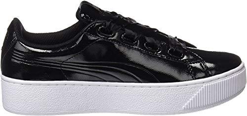 Puma Vikky Platform Ribbon P, Zapatillas para Mujer, Negro Black Black, 37 EU