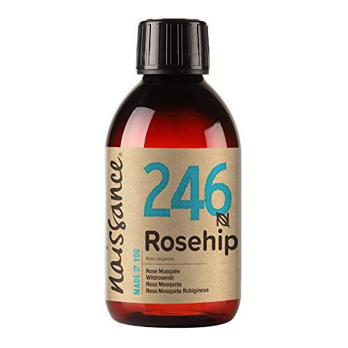 Naissance Huile de Rose Musquée (n° 246) - 250ml - 100% pure et naturelle - hydratante et nourrissante - pour le soin du corps, des cheveux, du visage, et des ongles