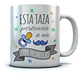 Taza - Regalos Originales Para Padres Primerizos, Taza Padre Primerizo - Esta Taza Pertenece a un Papá Primerizo 350ml Blanco