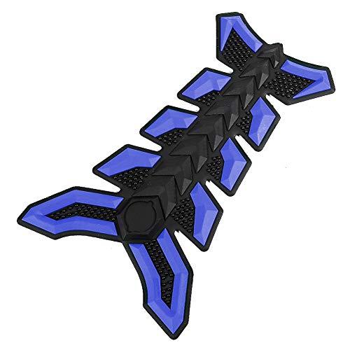 Duokon rubberen tankbeschermer gasolie brandstof sticker sticker, tank dome Sticke motorfiets ATV-voertuigen(blauw)