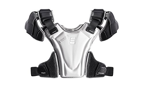 Epoch Lacrosse Integra High Performance Lightweight Lacrosse Shoulder Pad with Phase Change Technology, Compression Molded, AED Quick Release ,GREY,Large