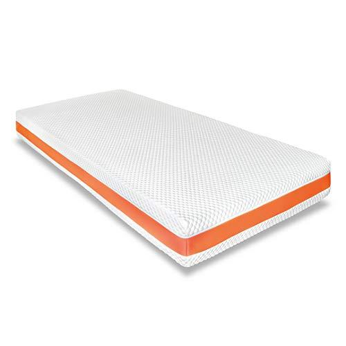 Zwoong Active Matratze 90 x 200 cm - Gelschaummatratze mit 7 Zonen - Kaltschaummatratze mit Memory Foam für optimale Druckentlastung - Härtegrad 2 - Höhe 21cm - weiß