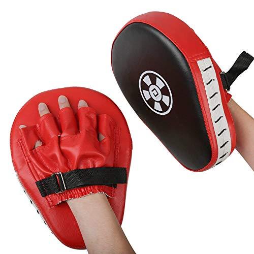 2 manoplas de golpeo de Xgeek, para deportes de combate, de cuero sintético