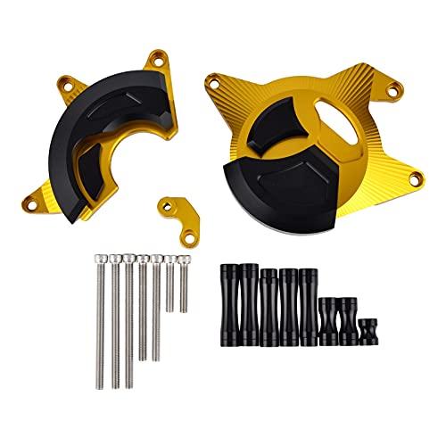 FANGPING Fang-Ping Cubierta del estator del Motor Guard Sliders Protector Fit para CBR300R CBR300F 15-16 CNC Ajuste para CBR 300R / F 15-16 Motor de Bloqueo de Marco (Color : Gold)
