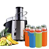 Chef's Star Stainless Steel Juicer Juice Extractor Centrifugal Juicing...