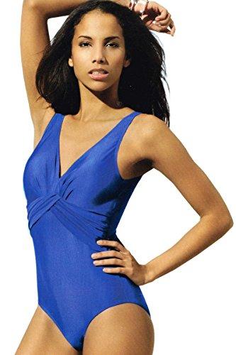 Esmara® Modischer Badeanzug (40, Blau)