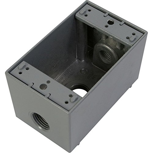 Greenfield DB23PS DEEP OUTLET BOX, GRAY
