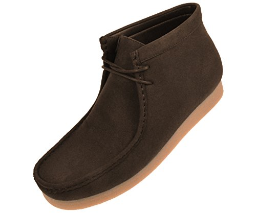 Amali The Original Men's Faux Seude High Top Casual Boots with Crepe Rubber Like Sole, Style Jason, Runs Small Size 1 UP