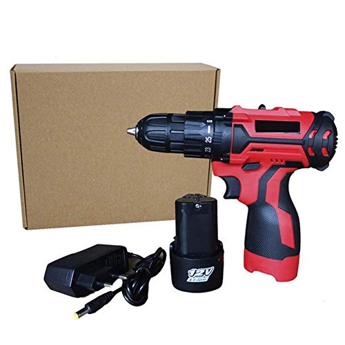 WYJW Professional Cordless Drill 12V/16.8V Electric Screwdriver Max Torque 25Nm/35Nm,2-Speed DIY Woodworking Tools