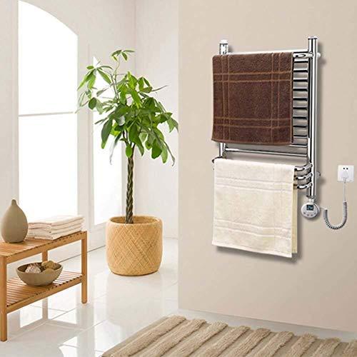 YAeele Elektrische Handtuchwärmer, mit Thermostat rechten Seite der Wand befestigter fest verdrahteten Edelstahl Handtuchwärmer Compatible with Badezimmer