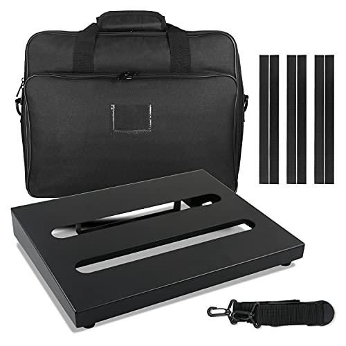 "Guitar Pedal Board with Carry Bag, Medium Pedal board case 13.8"" x 11"" Super..."