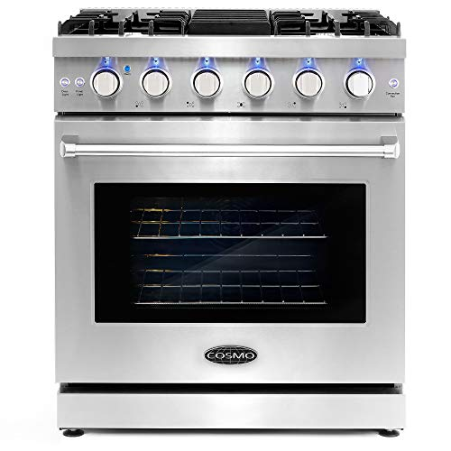 Cosmo COS-EPGR304 Slide-In Freestanding Gas Range with 5...