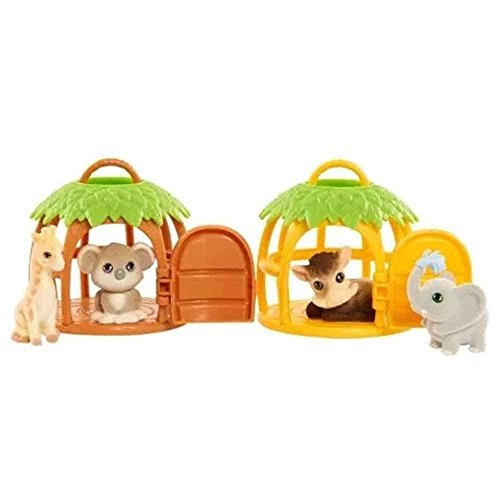 Jungle In My Pocket Series 1 Mystery Figure (Jungle Pet Carrier with 2 Hidden Pets)