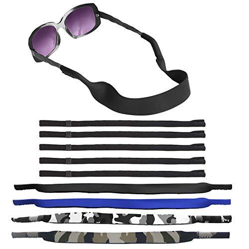 SENHAI 4 piezas Impermeable Correa de gafas de sol con natación Buceo Flotante Material de neopreno y 4 piezas La seguridad Correas de gafas de sol, Suave Retenedores de gafas para deporte, lectura