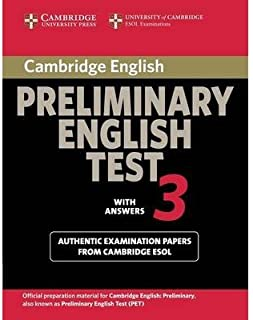 [(Cambridge Preliminary English Test 3 Student's Book with Answers: Examination Papers from the University of Cambridge ESOL Examinations)] [Author: Cambridge ESOL] published on (June, 2014)