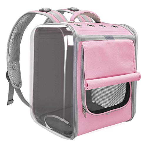 N\C Portable Dog Cat Carrier Bag Breathable Space Capsule Astronaut Travel Bag Transparent Outdoor Small Cat Carrier Pet Backpack