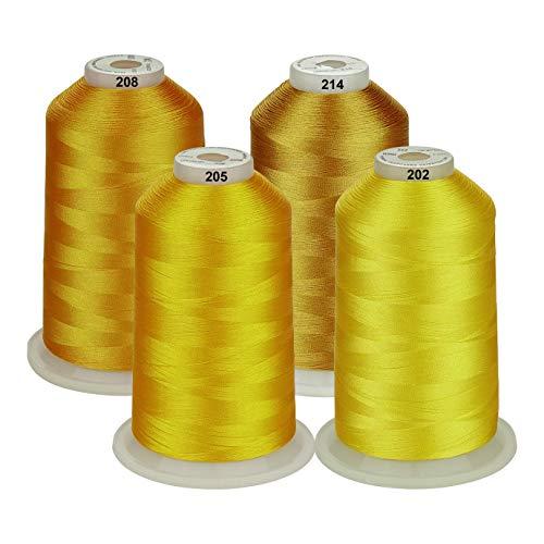 Simthread - Juego de bobinas de hilo de poliéster para bordar a máquina, 5000 m, para máquinas de coser y de bordar Brother/Babylock/Bernette/Janome/Singer/Kenmore