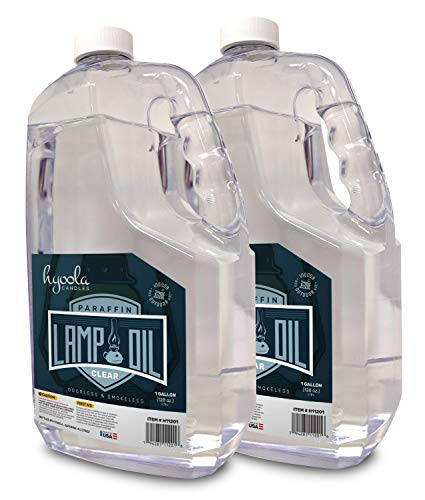 HYOOLA 1-Gallon Liquid Paraffin Lamp Oil - Clear Smokeless, Odorless, Ultra Clean Burning Fuel for Indoor and Outdoor Use - Highest Purity Available - 2 Pack