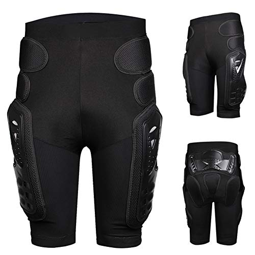 HEROBIKER Protective Armor Pants, Heavy Duty Body Protective Shorts Motorcycle Bicycle Ski Armour Pants for Men & Women