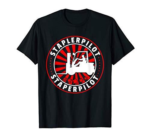 Herren Gabelstapler T-Shirt I Geschenk Hubwagen Stapler Fahrzeug