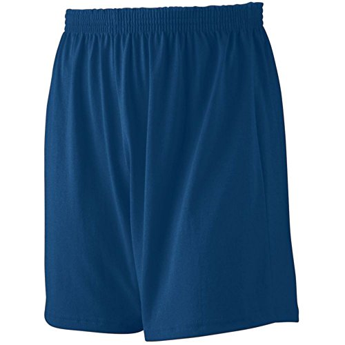 Augusta Activewear Jersey Knit Short-Youth, Navy, Large