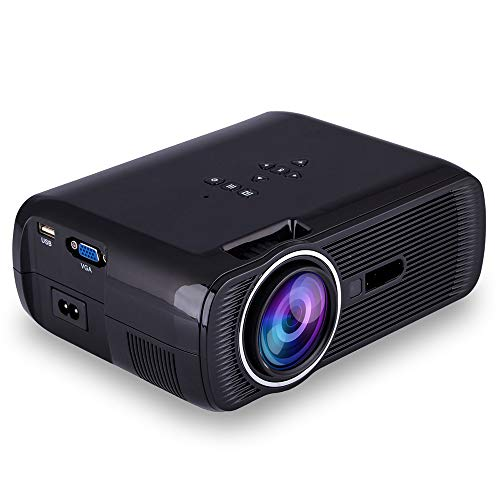 Projector, support video projector 2200L 20,000 hours home projector, indoor/outdoor with speakers, Fire TV Stick PS4 HDMI VGA AV, USB,Black