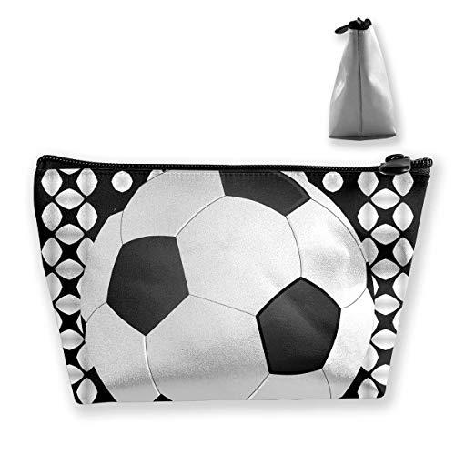 Trapezförmige Kosmetiktasche, Make-up-Tasche, Kulturbeutel, Fußball-Muster, Reise-Aufbewahrungstasche, Handy, Geldbörse
