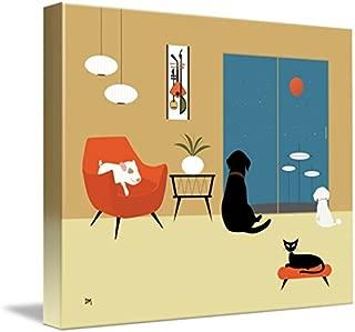 Imagekind Wall Art Print Entitled Mid Century Modern Animals by Donna Mibus | 30 x 24