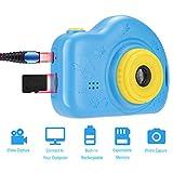 MRENVWS Kinderkamera v tech Mini HD kidizoom fotoapparat Kinder Kamera ab 6 Jahre adventskalender Geschenke Kinder (Blau) -
