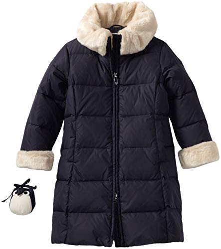 Il Gufo Little Girls' Down Coat, Blue, 5A