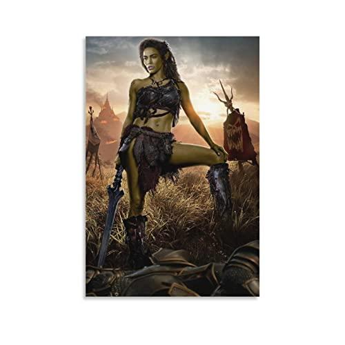Warcraft 1 póster de película para pared, decoración de habitación, decoración de pared para dormitorio, sala de estar, decoración del hogar, carteles e impresiones regalos para mujeres 50 x 75 cm