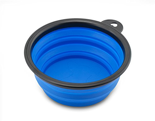 Reisenapf von der Marke PRECORN Hunde Katzen Haustier Futternapf faltbarer Napf Trinknapf Wassernapf in der Farbe blau