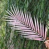 JIAJBG Plantas Artificiales Artificial Single Palm Leaf Simulación Planta Plástico Palmera Rama Vegetal Planta para Arreglo Floral Domingo Domingo Artificial Potted Flores artificia