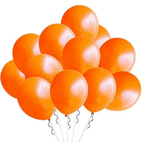 TOSOAR Ballons PartyDeko Orange 100St Luftballons Metallic (Glänzend) Ø 30 cm Helium Ballons für Hochzeit Deko Geburtstag Taufe Party Valentinstag Festival Orange Dekoration (Orange)