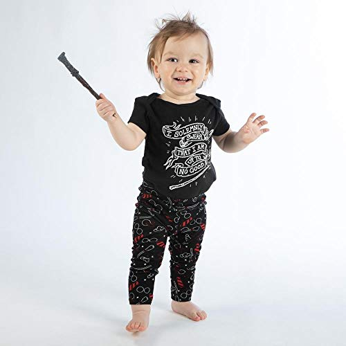 "Harry Potter ""I Solemnly Swear I Am Up To No Good"" Baby Legging and Bodysuit-12 months"