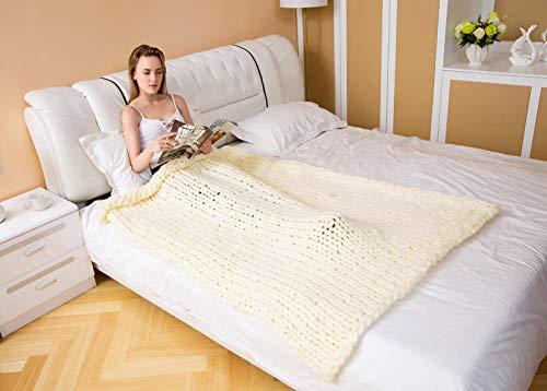 YUANCJ Decke Flauschige Kuscheldecke/,Fotografie Requisiten Nordic Dicke Decke handgewebte Decke Decke Wolldecke Sofa Island Wolldecke Sofa Decke beige, 50 * 50