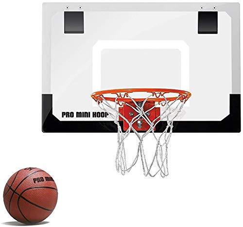 LALEO Mini Juego De Aro De Baloncesto Tablero A Prueba De Golpes Rebotes Gratis con Bola Colgante De Pared De Acero para Niños De Juguete Deportivo