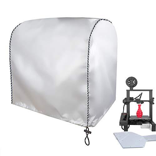 Aaaspark Coperchio protettivo per stampante 3D Coperchio antipolvere per copertura impermeabile Adatto per la maggior parte delle stampanti 3D desktop assemblate(450mmx450mmx480mm,Argento)